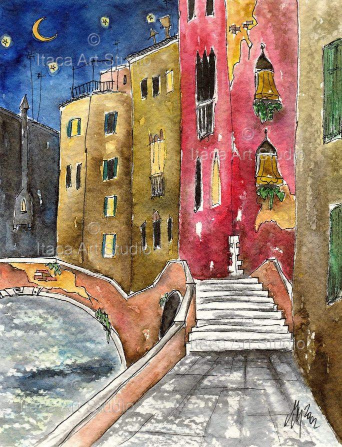 Il Canal Grande Vista Sulla Basilica Della Salute Dalla